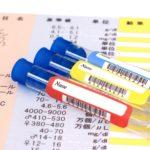 検査結果と試験管