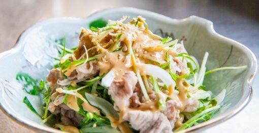 豚肉と水菜のサラダ